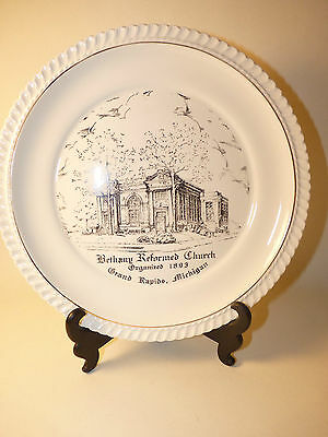 "1953 BETHANY REFORMED CHURCH GRAND RAPIDS MICHIGAN 9"" Collectible Plate 61 yrold"