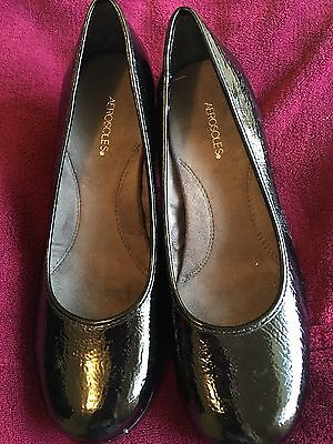 Aerosoles Black Patent Pumps Sz 7 Worn Once