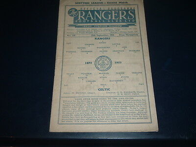 Rangers v Celtic Sept 1953