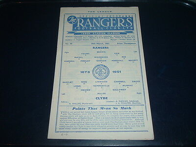 Rangers v Clyde March 1951 No. 88