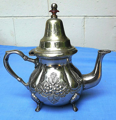 ANTIQUE Moroccan Arabic Silver teapot