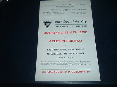 Dunfermline v Atletico Bilbao March 1965 Inter Cities Fairs Cup