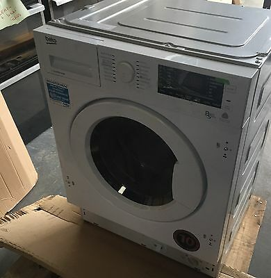 Beko WDIY854310 Integrated White Built In Washer Dryer 8Kilos 1400rpm code kevin