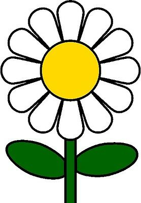 30 Custom Simple White Daisy Personalized Address Labels