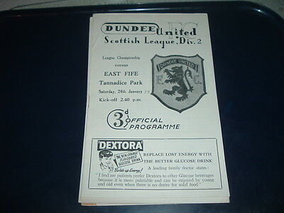 Dundee Utd v East Fife Jan 1959