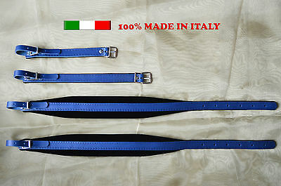 Accordion straps shoulder professional genuine leather and valvet 6cm DELUXE