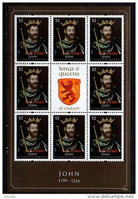 St. Vincent Grenadines 2011 Kings & Queens Of England John Mnh