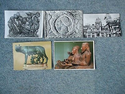 Selection Of Postcards Featuring Italian Sculptures
