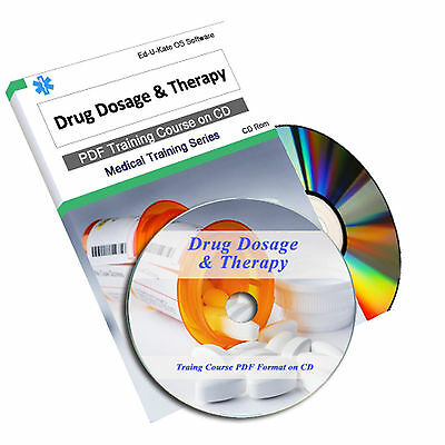 Drug Dosage Pharmacy Pharmacist Therapy Calculations Medical Nursing CD Book 78