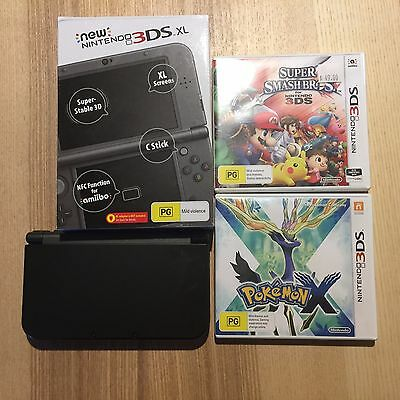 New Nintendo 3DS XL Metallic Black with Games