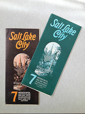 C. 1935 two SALT LAKE CITY UTAH Travel brochures with 7 one-day road trips