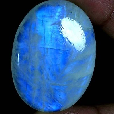 97.15Cts AAA 100% NATURAL RAINBOW FIRE MOONSTONE OVAL CABOCHON QUALITY GEMSTONES