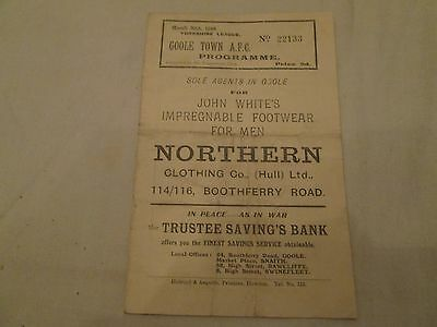 1947-48  YORSHIRE LEAGUE RESERVES GOOLE TOWN v CHESTERFIELD