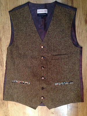 Lloyd Attree & Smith Wool Blend Brown Country Waistcoat Size M