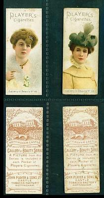 2 x A GALLERY OF BEAUTY SERIES – (No's 38 & 46) – PLAYERS – 1896