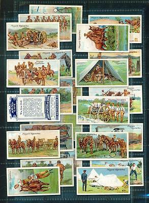 PART SET – 24/25 x ARMY LIFE – PLAYERS – 1910