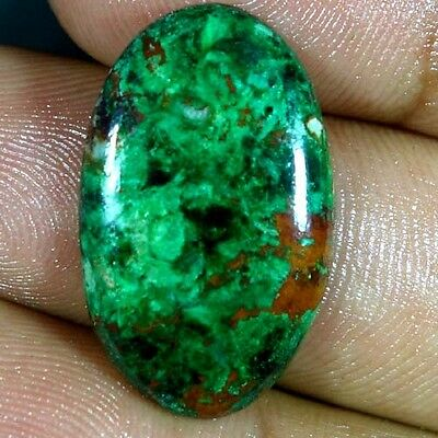 17.05Cts. 100% NATURAL GREEN MALACHITE CHRYSOCOLLA OVAL CABOCHON FINE GEMSTONES