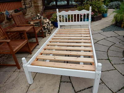 Solid Pine 3' Shabby Chic Bed Frame Painted in Annie Sloane Paint