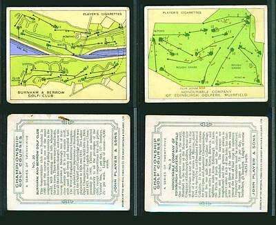 2 x CHAMPIONSHIP GOLF COURSES (LARGE) – PLAYERS – 1936