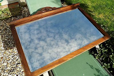 Edwardian OVERMANTLE or Wall MIRROR c1910 large Antique