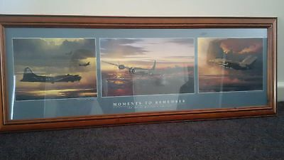 2 x Framed photos of assorted aviation art