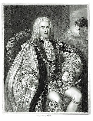 Thomas Pelham-Holles, 1st Duke of Newcastle - Whig Politician - After Wm. Hoare