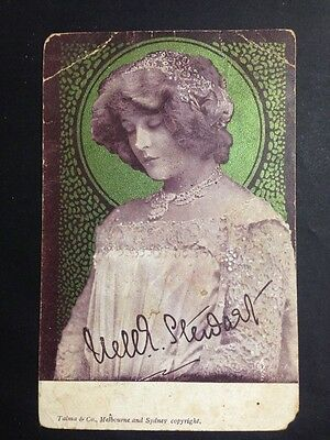 Antique Postcard NELLIE STEWART by Talma & Co Melb/Sydney, 1d NSW Postage Stamp