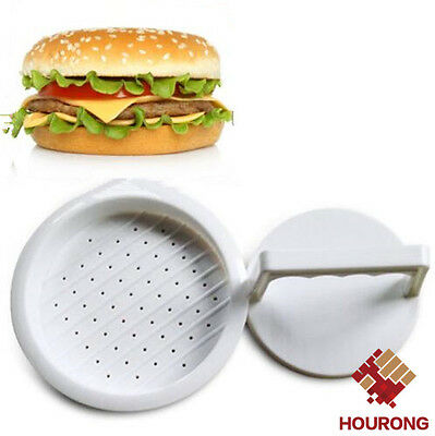DIY White Plastic Hamburger Meat Beef Grill Burger Press Patty Maker Mold Moulds