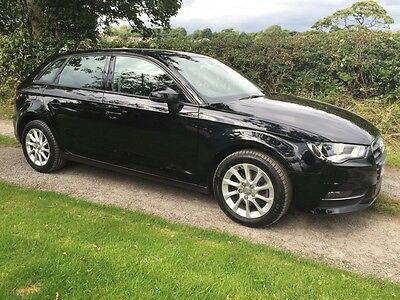 2013 Audi A3 Se 1.6 Tdi 5 Door. Black With Full Audi Service History. One Owner