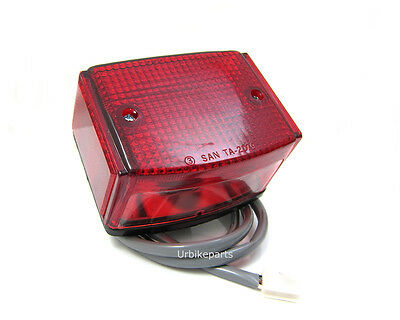 Rear Taillight Tail light Brake light for 1980-1991 Suzuki FA50 Shuttle Moped