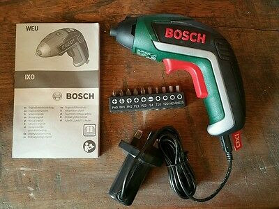 Bosch IXO cordless 3.6v lithium-ion screwdriver with bits and charger