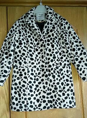 Next Girls Leopard Faux Fur Coat Aged 3-4