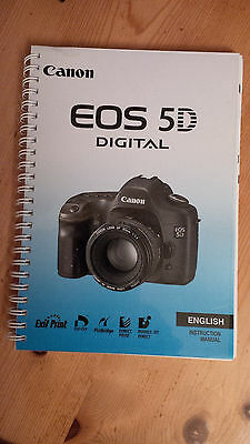 CANON EOS 5D Mk 1 INSTRUCTION GUIDE / MANUAL PRINTED 182 PAGES A5
