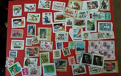 collection of stamps from 1980s