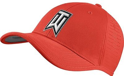 NIKE Golf Unisex Red 2016 TIGER WOODS Ultralight Perforated Tour Cap Hat BNWT