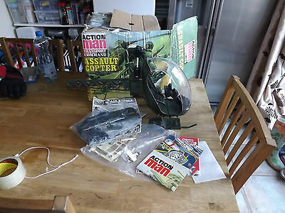 Vintage 1970 Action Man Transport Command Assault Copter Boxed Palitoy