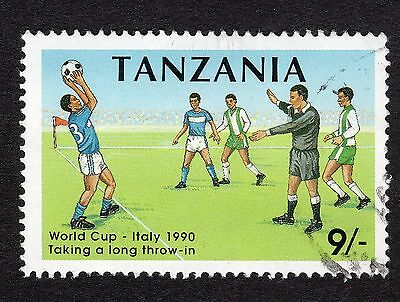 1990 Tanzania 9s World cup SG 794 FINE Used R18876