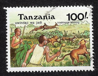 1992 Tanzania 100s Traditional Hunting with Dogs SG 1401 FINE Used R18885