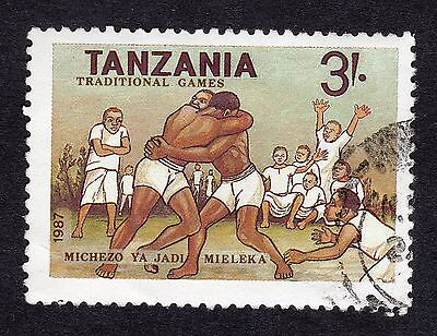 1988 Tanzania 3s Wrestling SG 546 GOOD Used R18873