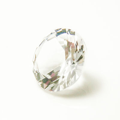0.75Ct (5.2mm) Authentic WHITE SAPPHIRE My Russian Diamond Synthetic Loose Stone