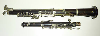 Antique EXCELSIOR SONOROUS CLASS HAWKES & SON DENMAN ST 1195 London Wooden Oboe