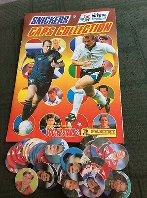 Snickers Euro 96 Panini Caps Collection And Spare Caps