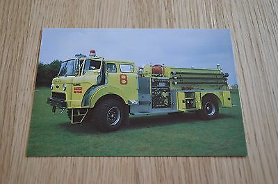 United States Airforce / RAF Bentwaters P-8D Airport Fire Appliance Postcard