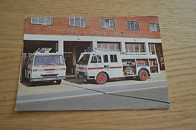 Isle of Wight Fire Brigade HCB Angus Bedford Fire Appliance Postcard