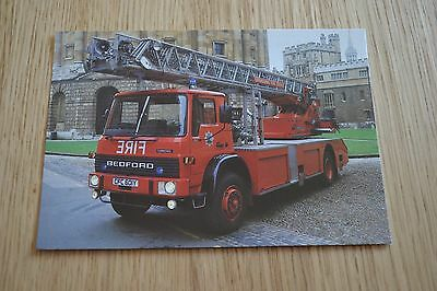 Oxfordshire Fire Service Bedford Turntable Ladder Fire Appliance Postcard