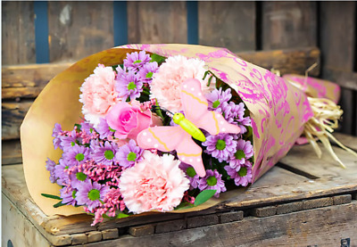 Fresh Flower Delivery 20 ROSE Bouquet FREE MESSAGE BIRTHDAY ROSES flowers
