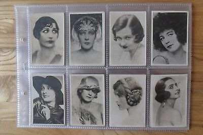 a full set of national types of beauty from sarony cigarette cards