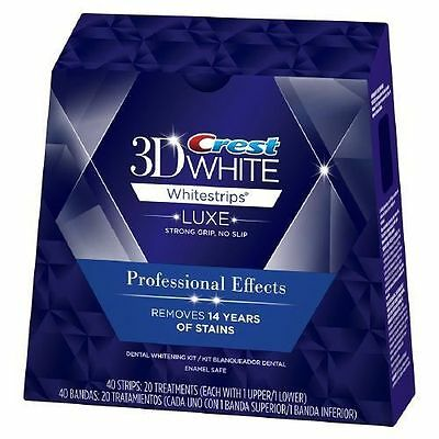 Crest3D White Luxe Professional Blanchiment Dentaires 10 sachets / 20 bandes