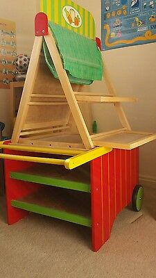 wooden toy shop marketplace stall - role play - art easel