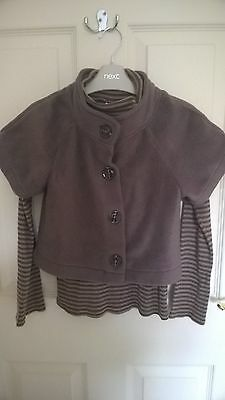 """""""next"""" Outfit  Girls Age 8,  L/sl Top & Cardigan In Good Clean Condition"""
